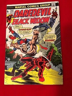 Marvel Comics Daredevil and the Black Widow Issue 103, Volume 1, 1973