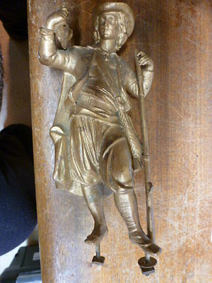 Spelter French figure for mantel clock for spares - parts