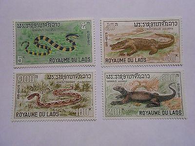 Timbres Laos N 167 A 170 Neuf Gomme