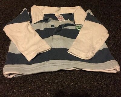 Baby Boy Rugby Style Top Stripe 3 To 6 Months Sport Country