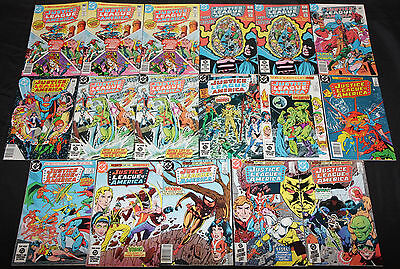 Vintage Bronze-Modern JUSTICE LEAGUE OF AMERICA 211pc Comic Lot FN-VF