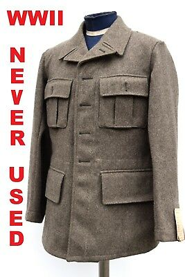 Vintage Swedish Army Fitted Wool Coat / Jacket / Tunic WWII M39. NEW, 1940