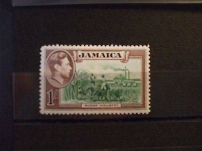 JAMAICA.- 1938 KGVl 1/- Green & Brown Part Set of 1vs MH Cat 13.00 (8R)