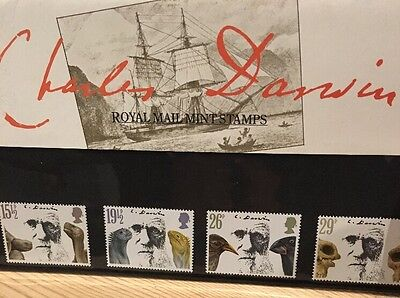 Charles Darwin Royal Mail Mint Stamps