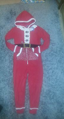 FATHER CHRISTMAS SANTA CLAUS FLEECE ONESIE. Age 11-12.  RRP £26.99. BNWT.