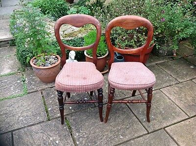 Two Early,single Bedroom Chairs,