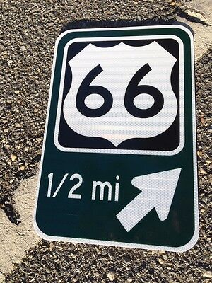 """Route 66 road sign 18""""x12"""" Exit Sign - UNUSED DOT specs - traffic route highway"""