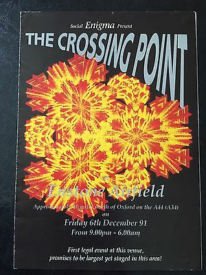 Rave Flyers   The Crossing Point 1991