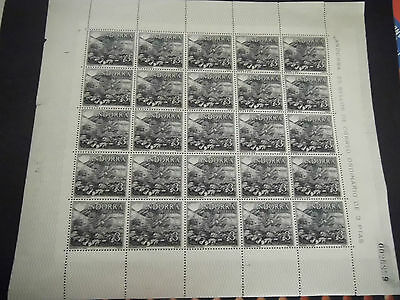 1963 Andorra stamps Umounted MINT block of 25 stamps Catalogue Value £50.00