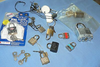 Group of LOCKS - Variety of Sizes, Kinds, Metals