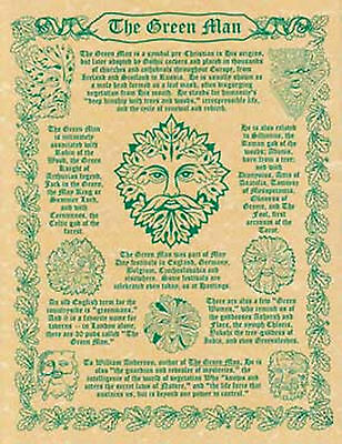 The Greenman Prayer Poster Book of Shadows Page Wiccan Pagan Witch