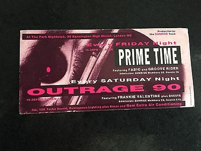 Rave Flyers Outrage 1990
