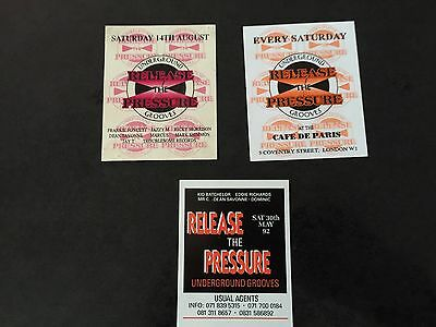 Rave Flyers Release The Pressure X3