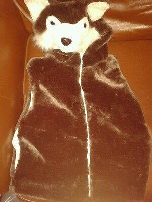 """Girls Brown Faux Fur Gilet/bodywarmer With Fox Hood Chest 30/32"""" Chest New"""