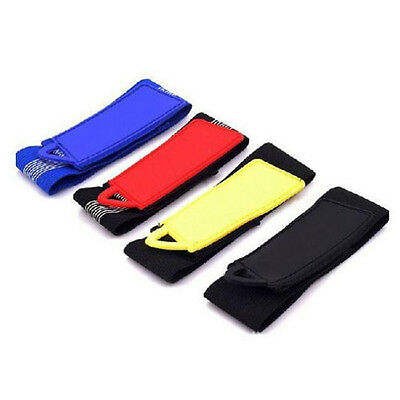 2 x High-Elastic Velcro Trousers Pants Clip Wrist Strap For Bicycle Multicolor