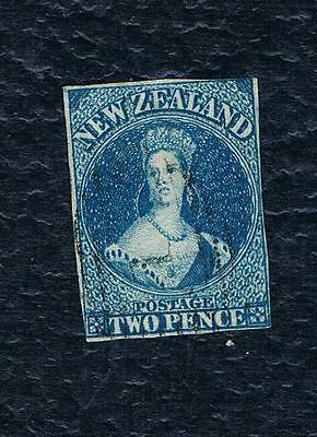 1855 New Zealand Full Face Queen Stamp,STAR Watermark,IMPERF