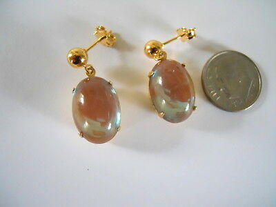 Vintage Large Saphiret Earrings