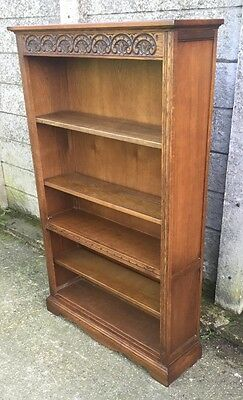 Fine Rare Old Charm Oak Bookcase Very Clean 2 Man Delivery Available