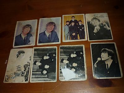 8 x A & BC Chewing Gum Beatles Collectors Cards