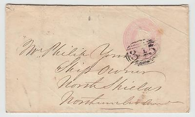 GB 1845 1d ENVELOPE B HAVERFORDWEST TO NORTH SHIELDS