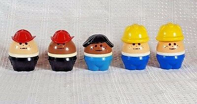 5 Little Tikes Chunky People Firefighters Construction Workers Girl