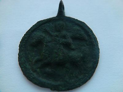 "Authentic ancient PENDANT ""George kills the Dragon"" #2"