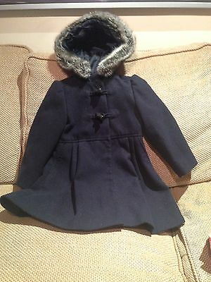 Navy Blue Girls Jacket 2-3 Years