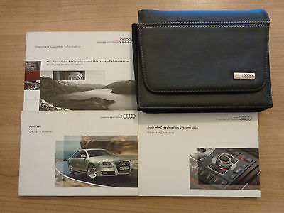Audi A8 Owners Handbook Manual and Pack 05-10