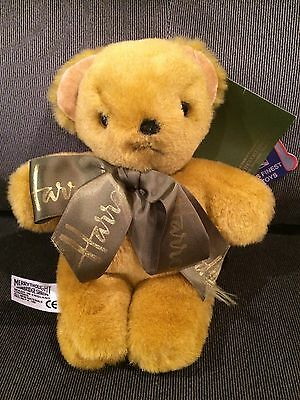 "Merrythought Harrods Knightsbridge Bear 6"" Gold fur NWT"