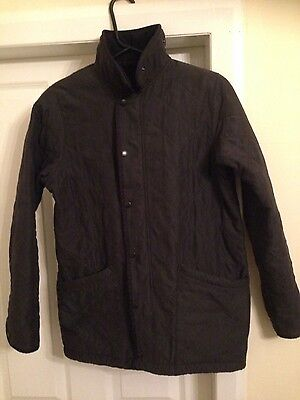 heavy youths barbour jacket size xl age 12/13