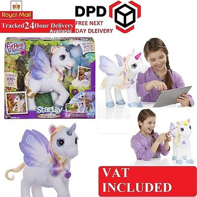 FurReal Friends Fantasy Collection StarLily My Magical Unicorn Pet Toy Fur Real