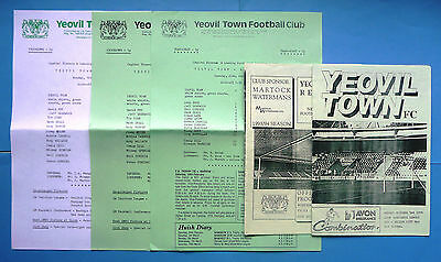 5 Yeovil Town homes v Exeter City 1989-1994 - reserves combination league