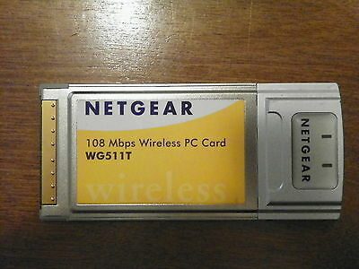 Netgear Wireless G Notebook Adapter Card WG511T