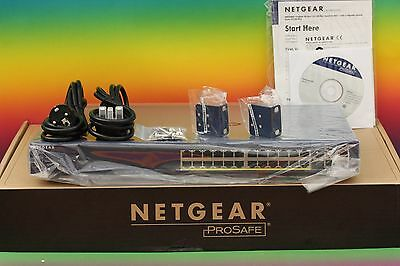 NEU Netgear FS728TP v.2 4x Gigabit 24x PoE Port Switch Version 2 Smart SFP Ports