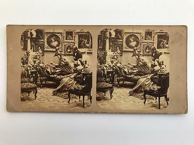 Early Stereoview 1850s/60s Disturber of the Peace by Goodman