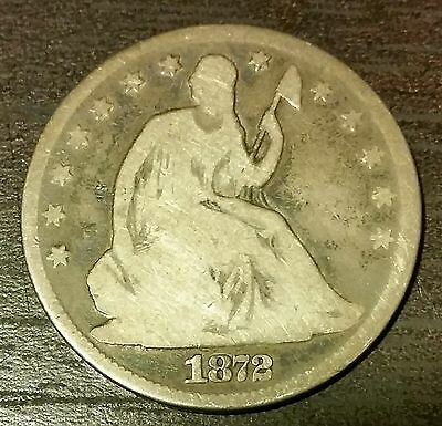 1872 50C Liberty Seated Half Dollar --RARE-- *Only 880,000 minted*