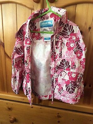 trespass unlined shower jacket girl 3-4 years