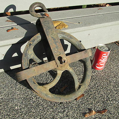 Super Rare - Crosby Laughlin - ANTIQUE VINTAGE OLD ICE HAY FARM / Mine Pulley