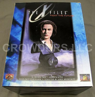 """10"""" Porcelain Agent Scully Bust X Files Fight the Future Legends in 3D Aronowitz"""
