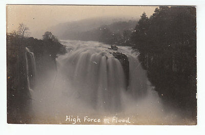 High Force Waterfall In Flood Middleton In Teesdale Real Photograph Early 1900's