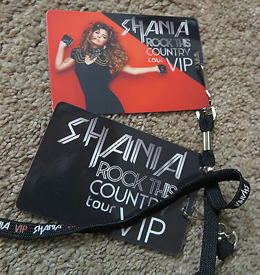 Shania Twain - VIP Ticketing Merchandise. 2 complete sets.