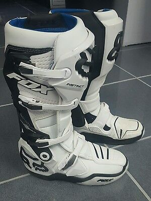 Fox Instinct Motocross Riding Boots Sz 9 Adult 2017 Offroad Boots Fox Racing Wht