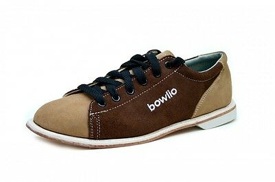 Bowlio Sand - Suede Leather Tenpin Bowling Shoes in beige and brown for men and