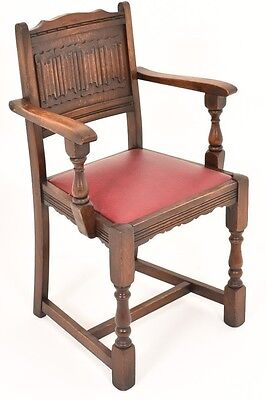 C20th Antique Jacobean style Oak Chair