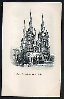 Lichfield Cathedral, From North West, Staffordshire. Unused. Undivided Back.