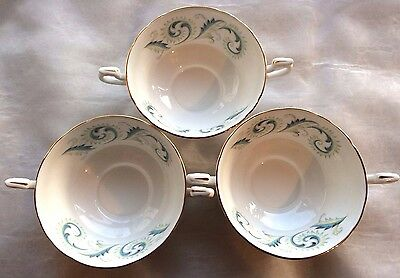3 VINTAGE ROYAL STANDARD SOUP CUPS GARLAND PATTERN in EXCELLENT CONDITION