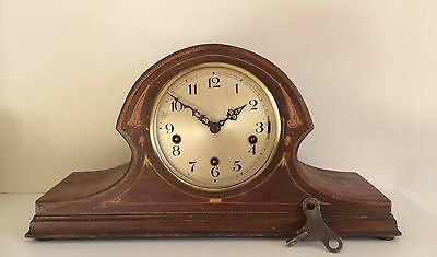 Antique Art Deco HALLER 8 Day Westminster 3 Train Mantel Clock,Pendulum,Key,Huge