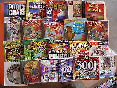 Huge Lot Of 20 Pc Games Software In Great Condition