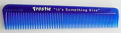 Vintage Frostie Root Beer Hair Comb Blue Plastic Unbreakable USA Sign Soda
