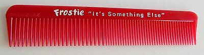Vintage Frostie Root Beer Hair Comb Red Plastic Unbreakable USA Sign Soda